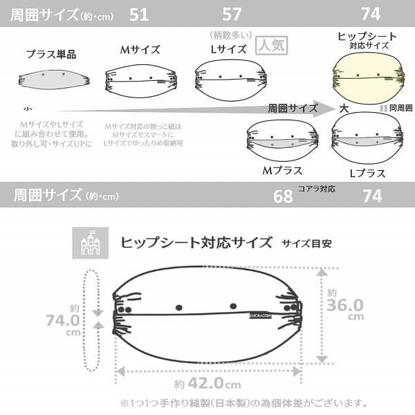 ルカコヒップシート対応サイズ