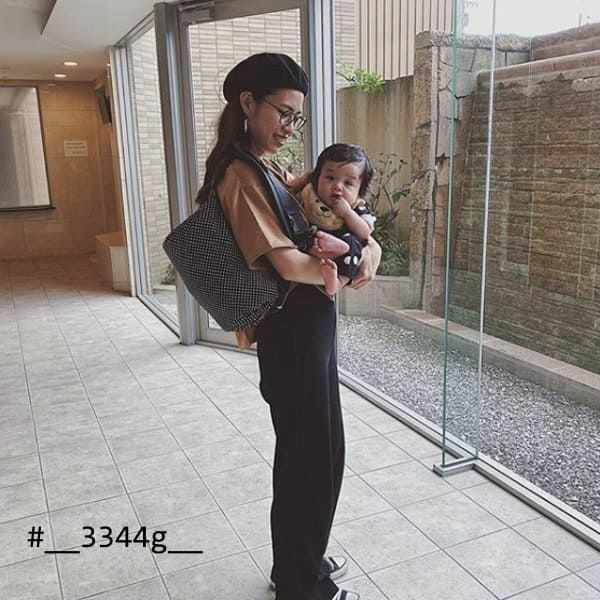 【M】ドット柄ブラック/抱っこひも収納カバー「ルカコ」 0380-11