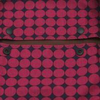 【M】北欧風変わりドット ワインレッド/抱っこひも収納カバー「ルカコ」 0632-11