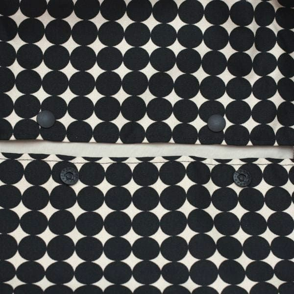 【L】北欧風変わりドット ブラック×ベージュ/抱っこひも収納カバー「ルカコ」88-0338-11