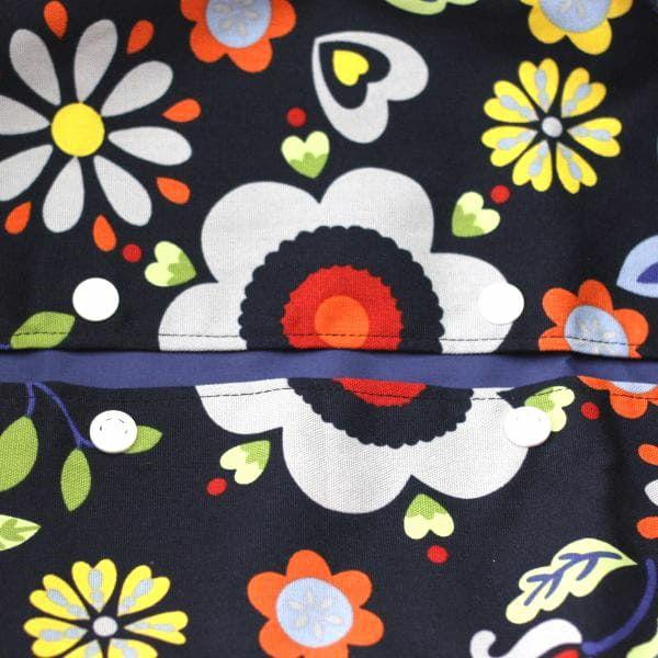【L】カラフルアート ネイビー/抱っこひも収納カバー「ルカコ」88-0355-11