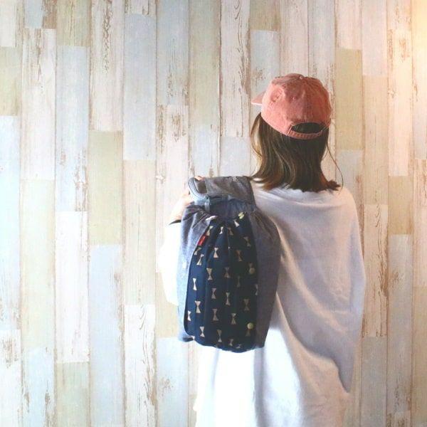 【L】ダンガリーデニム風ブルー/抱っこひも収納カバー「ルカコ」 88-0601-11