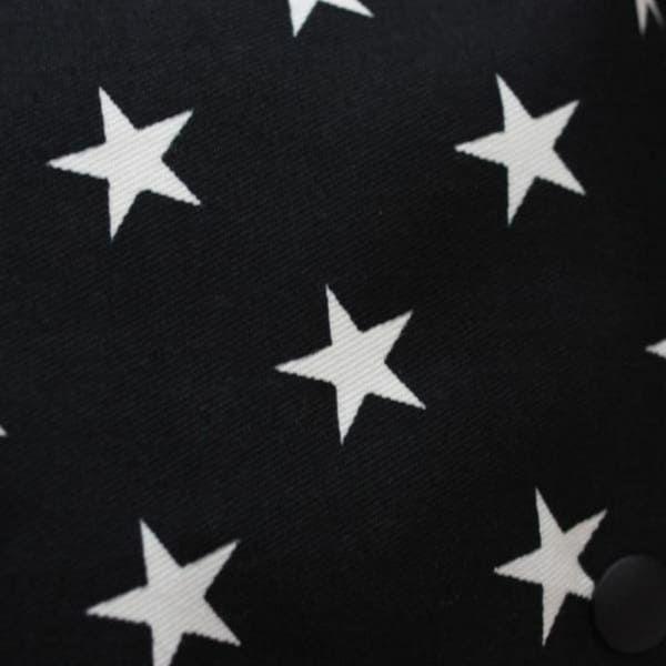 【M】星柄 ブラック/抱っこひも収納カバー「ルカコ」0667-11