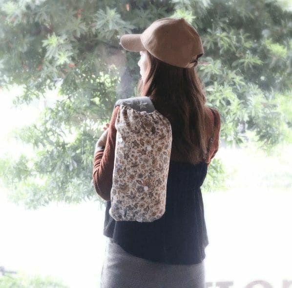 【M】イエローペイズリー花柄/抱っこひも収納カバー「ルカコ」 0695-11