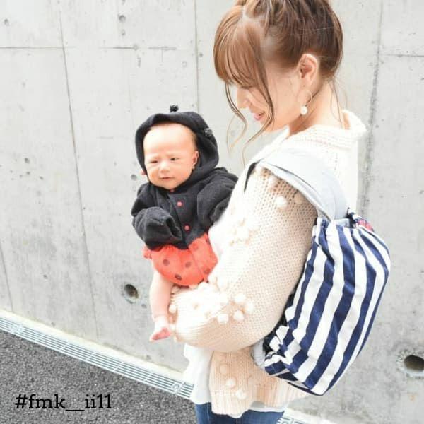 【M】マリンボーダー/抱っこひも収納カバー「ルカコ」 0698-11