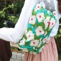 【M】レトロな椿柄/抱っこひも収納カバー「ルカコ」 0711-11