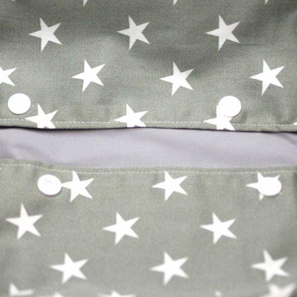 【出産祝・贈答用】おもてなし(お花とかご付き送料込)【M】星柄カーキグレー「ルカコ」77-0659-11