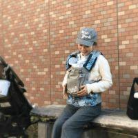 【M】ルカコオリジナル柄ブルー/抱っこひも収納カバー「ルカコ」0770-11