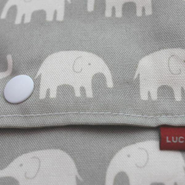 【L】象さん柄グレー/抱っこひも収納カバー「ルカコ」 88-0284-11