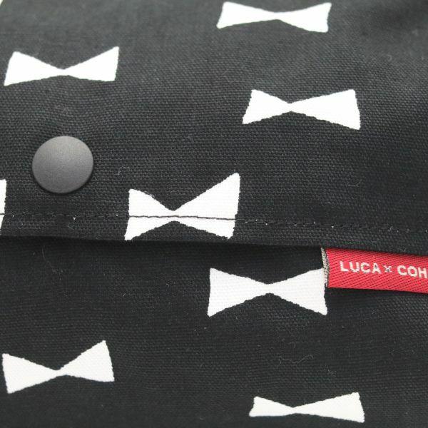 【L】シンプルリボン ブラック/抱っこひも収納カバー「ルカコ」 88-0807-11