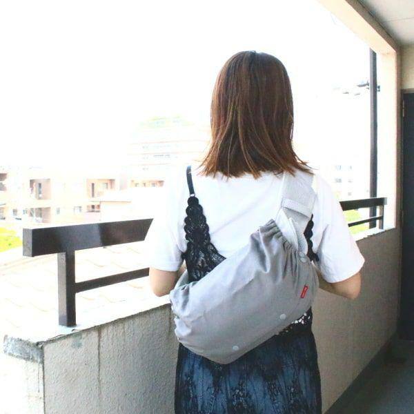【L】シンプルグレー/抱っこひも収納カバー「ルカコ」 88-0859-11