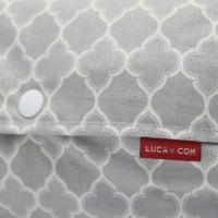 【L】モロッカン柄 グレー/抱っこひも収納カバー「ルカコ」88-0863-11
