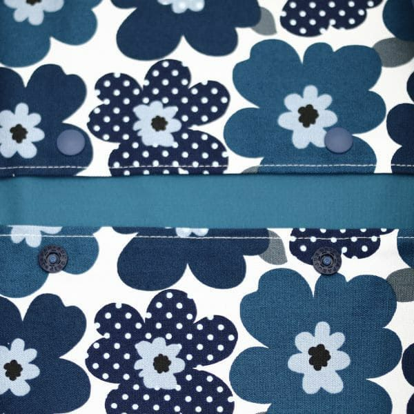 【M】POPなドットフラワー ブルー/抱っこひも収納カバー「ルカコ」0865-11