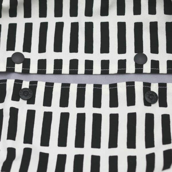 【L】北欧風スクエア柄ブラック/抱っこひも収納カバー「ルカコ」 88-0837-11