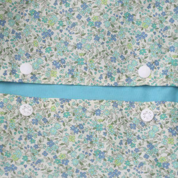 【L】細かい花柄優しい水色/抱っこひも収納カバー「ルカコ」88-0183-11