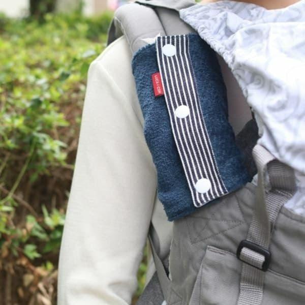 抱っこ紐のよだれカバーFUWA ブルー×ヒッコリーブルー 51-0778-51