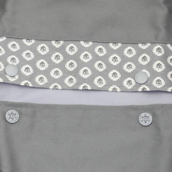 【L】【セット】【レイヤー】グレー×アンティーク調グレー/抱っこひも収納カバー「ルカコ」89-0850-11