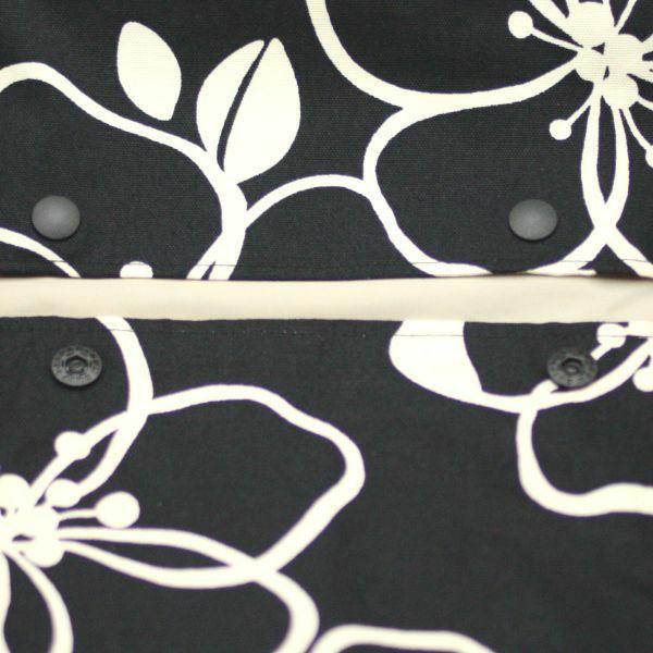 【出産祝・贈答用】おもてなし(お花とかご付き送料込)【L】ブラック大人花柄「ルカコ」78-0608-11