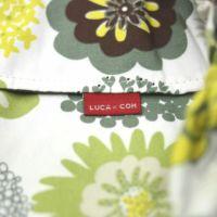 【出産祝・贈答用】おもてなし(お花とかご付き送料込)【L】モダングリーン花柄「ルカコ」78-0441-11