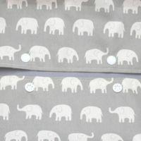 【出産祝・贈答用】おもてなし(お花とかご付き送料込)【L】象さん柄グレー「ルカコ」75-0284-11
