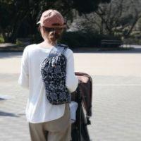 【L】バンダナ柄ブラック/抱っこひも収納カバー「ルカコ」88-0864-11