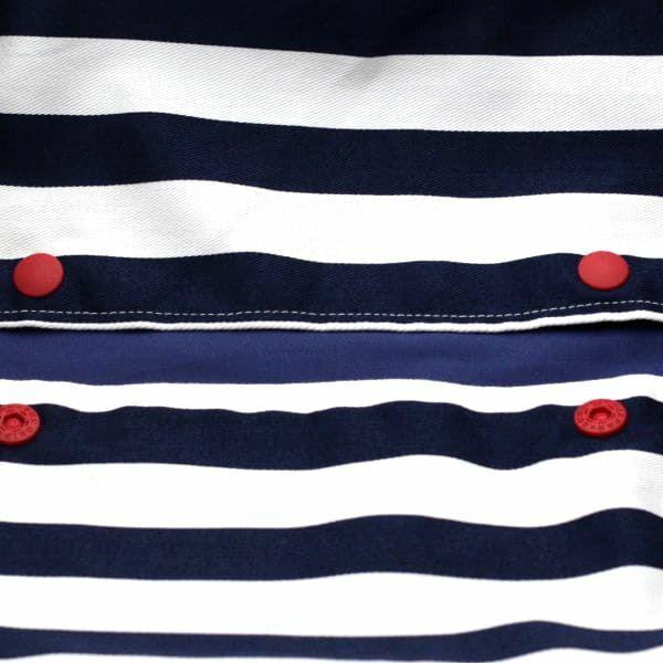 【L】【セット】マリンボーダー/抱っこひも収納カバー「ルカコ」89-0698-11