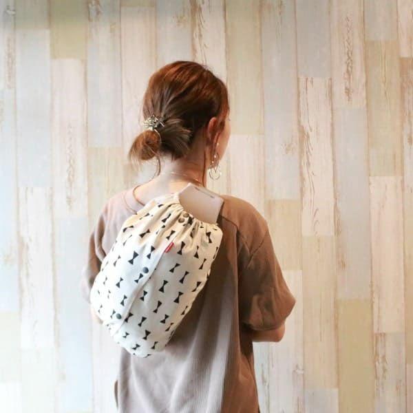 【L】【セット】シンプルリボン アイボリー/抱っこひも収納カバー「ルカコ」89-0870-11