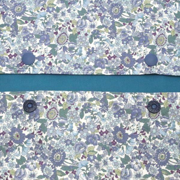【L】イギリス調アンティークブルー小花柄/抱っこひも収納カバー「ルカコ」88-0888-11