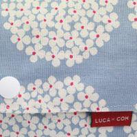 【L】北欧風サークル調フラワー ライトブルー/抱っこひも収納カバー「ルカコ」 88-0895-11