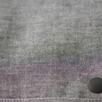 【L】【刺繍イニシャル】英1文字・ダンガリーグレー/抱っこひも収納カバー「ルカコ」 23-0676-11