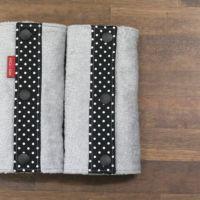 【M】【セット】ブラック×ホワイトドット/抱っこひも収納カバー「ルカコ」55-0380-11