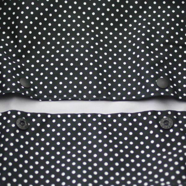 【L】ドット柄ブラック×ホワイト/抱っこひも収納カバー「ルカコ」88-0380-11