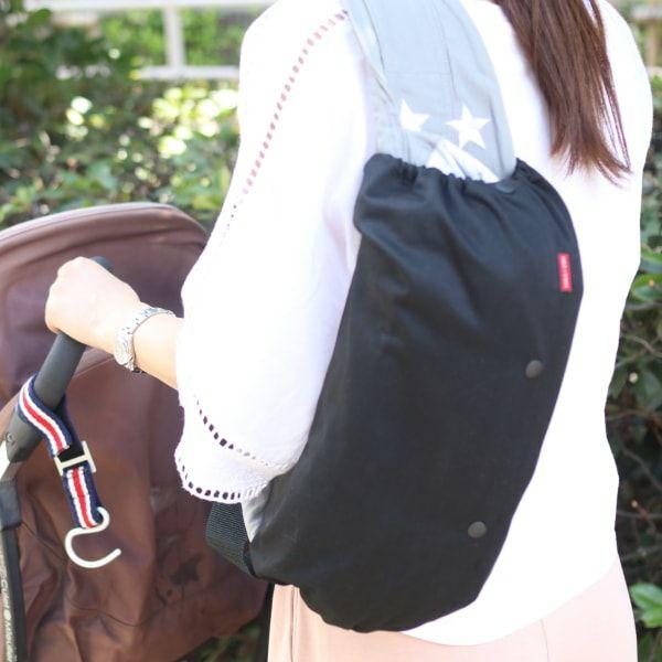 【M】シンプルブラック /抱っこひも収納カバー「ルカコ」 0907-11