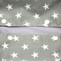【L】【セット】星柄カーキグレー/抱っこひも収納カバー「ルカコ」89-0659-11