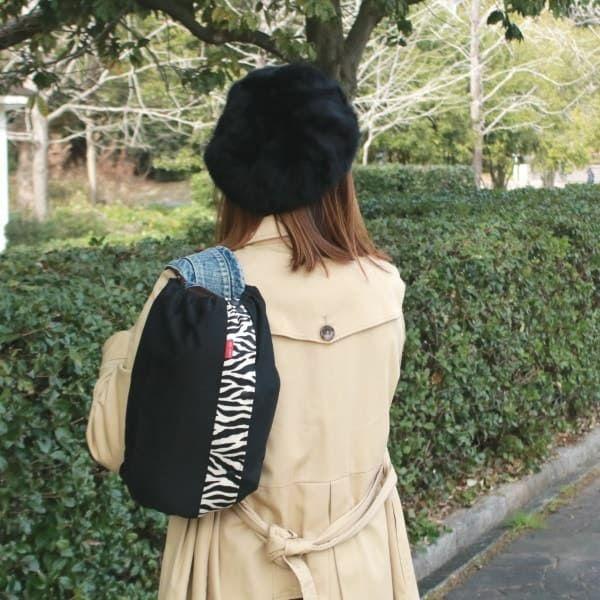 【M】【レイヤー】ブラック×ゼブラ柄/抱っこひも収納カバー「ルカコ」 0911-11
