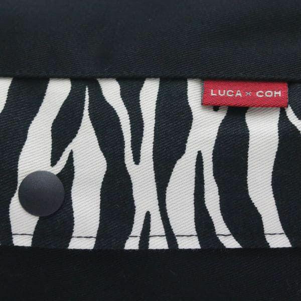 【L】【セット】【レイヤー】ブラック×ゼブラ柄/抱っこひも収納カバー「ルカコ」89-0911-11
