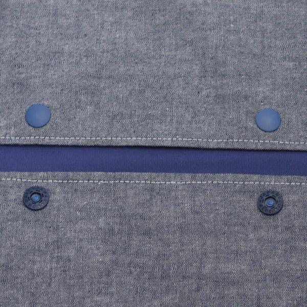 【L】【刺繍】自転車ホワイト×ダンガリーブルー/抱っこひも収納カバー「ルカコ」 88-0921-11