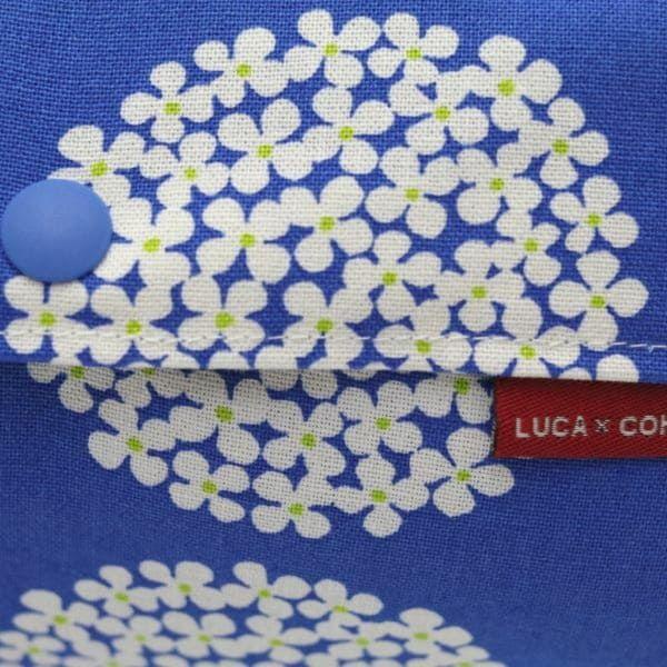 【L】北欧風サークル調フラワービビットブルー/抱っこひも収納カバー「ルカコ」 88-0923-11
