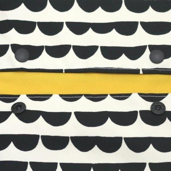 【L】ハーフムーンボーダー アイボリー×ブラック/抱っこひも収納カバー「ルカコ」 88-0939-11