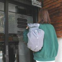 【Lプラス】ヒッコリーブルー/抱っこひも収納カバー「ルカコ」 66-0778-11