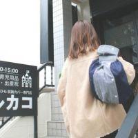 【プラス】ヒッコリーブルー/抱っこひも収納カバー「ルカコ」 60-0778-11