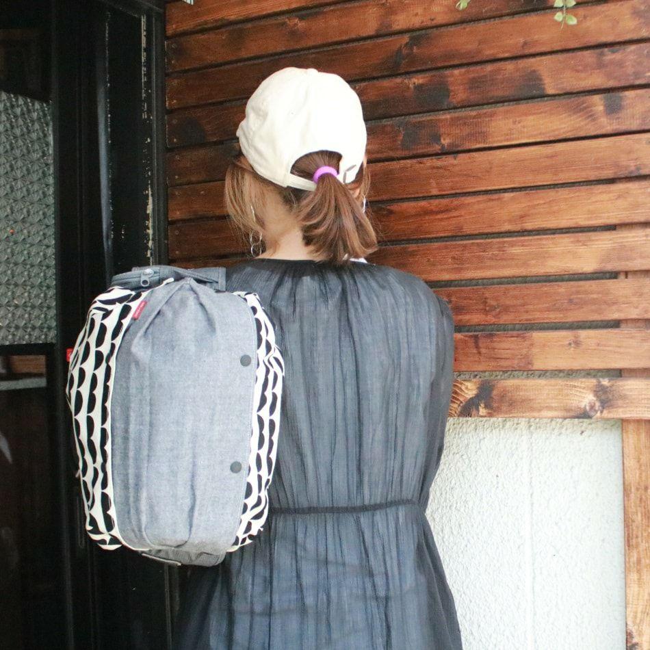 【プラス】ダンガリーデニム風グレー/抱っこひも収納カバー「ルカコ」 60-0676-11