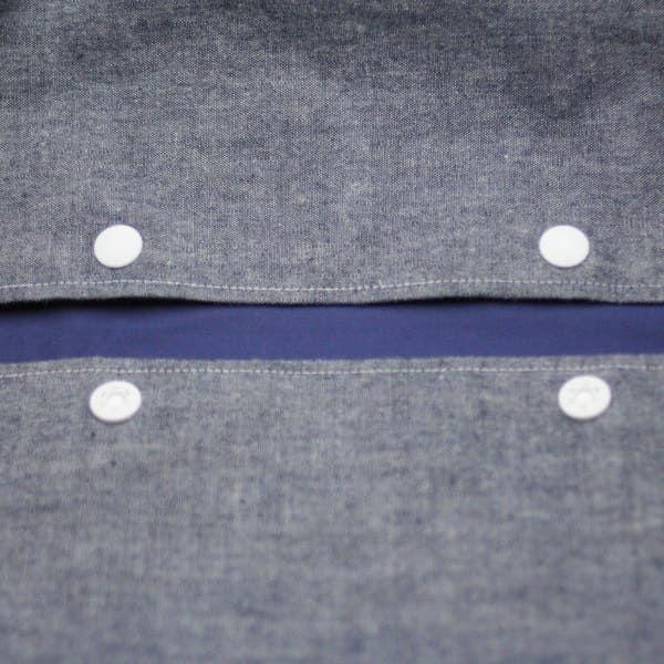 【Lプラス】ダンガリーデニム風ブルー/抱っこひも収納カバー「ルカコ」 66-0601-11