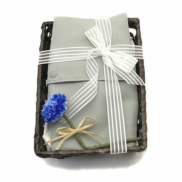 【出産祝・贈答用】おもてなし(お花とかご付き送料込)【L】シンプルグレー「ルカコ」78-0880-11