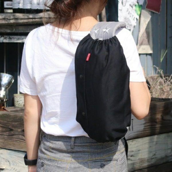 【M】【セット】ブラック×変わりドットブラック/抱っこひも収納カバー「ルカコ」55-0907-21