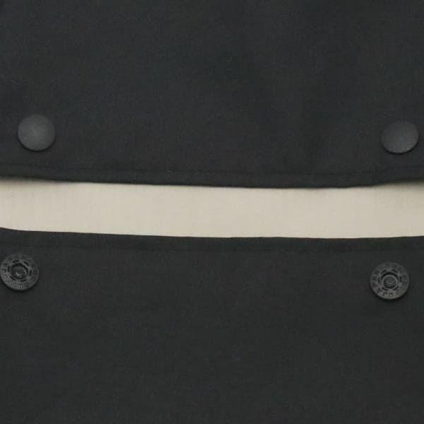 【M】【撥水加工】ナイロンオックス シンプルブラック/抱っこひも収納カバー「ルカコ」 0968-11
