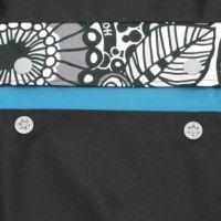 【L】【レイヤー】ブラック×ルカコオリジナル ブラック/抱っこひも収納カバー「ルカコ」 88-0972-11