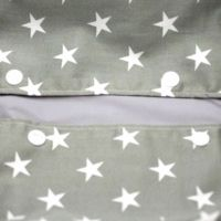 【ヒップシート対応】星柄カーキグレー/抱っこひも収納カバー「ルカコ」80-0659-11