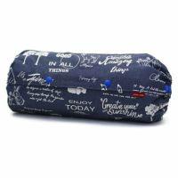 【L】デニムアニマルプリント ブルー/抱っこひも収納カバー「ルカコ」 88-0990-11