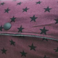 【L】【リバーシブル】ダンガリーグレー×星柄ワインレッド/抱っこひも収納カバー「ルカコ」 88-0999-11